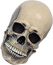 Halloween Skull Face Cover Latex Skelet Hoofddeksels Creepy Face Shield Facewear Prop Grey Halloween Party Gunst