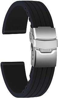 Ullchro Cinturini Orologi Impermeabile Orologi Bracciale Donna Uomo Stripe Pattern - 16mm, 18mm, 20mm, 22mm, 24mm Gomma Ci...