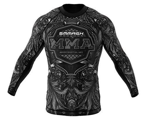 SMMASH COBRA Camiseta de manga larga para hombre para MMA, UFC, BJJ (XXXL)