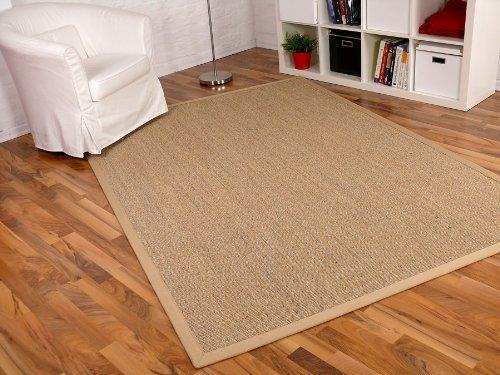 ASTRA Sisal Natur Teppich Nuss Bordüre Beige in 16 Größen