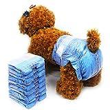 Dono Jeans Couches jetables pour chiennes femelles – Couches super absorbantes pour chiots femelles avec 24 couches