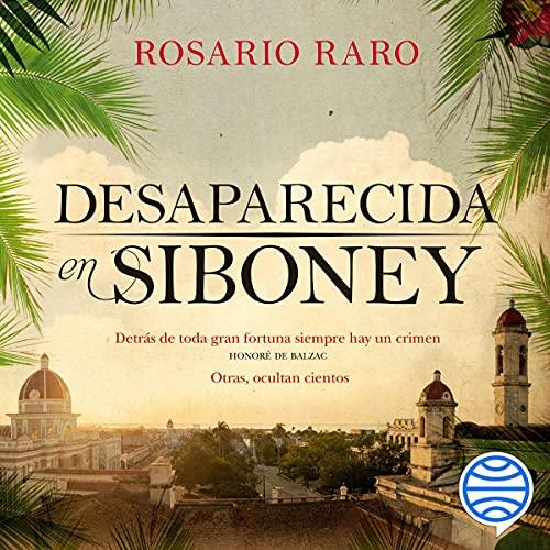 Diseño de la portada del título Desaparecida en Siboney