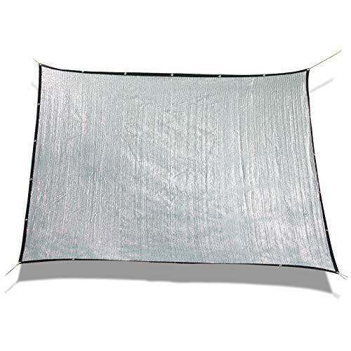 Laxllent Autoschutz Schatten Auto Aluminet Hund Sonnensegel Haustier,80% Reflexion,3x4m,Weich Kratzfest,Schutzfolie Alufolie,Shade Cloth,Rechteck,Silber