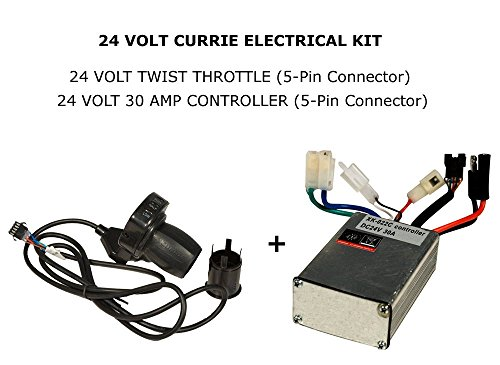 Schwinn Scooters Works with Currie Izip Currie Twist Throttle w// LED for 24 Volt Ezip Electric Scooters