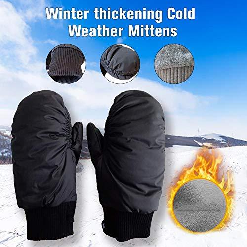 Wilk Outdoor-Anti-Kälte-Produkte Radfahren Ski-Handschuhe Männer und Frauen Daunen Handschuhe Hanging Neck Fäustlinge eingedickt und Velvet Handschuhe