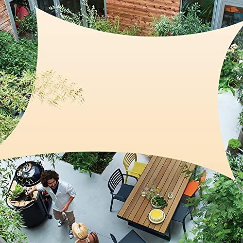 Awroutdoor 3 x 4 m Tenda a Vela Rettangolare, Tende da Sole per Esterno Protezione Raggi UV, Tenda Parasole Vela Ombreggiante Impermeabile e Resistente per Giardino Balcone Terrazza