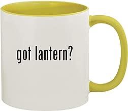 got lantern? - 11oz Ceramic Colored Inside & Handle Coffee Mug, Yellow