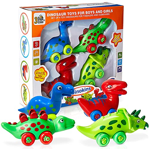 Colorful Dinosaur Toys with Wheels