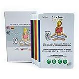 Cartas de Yoga/Pack de 100 Yoga Cards para Todos los Niveles: Principiantes y avanzados, Tarjetas con secuencias ilustradas de posturas para Hacer Yoga en casa Tanto Adultos como niños