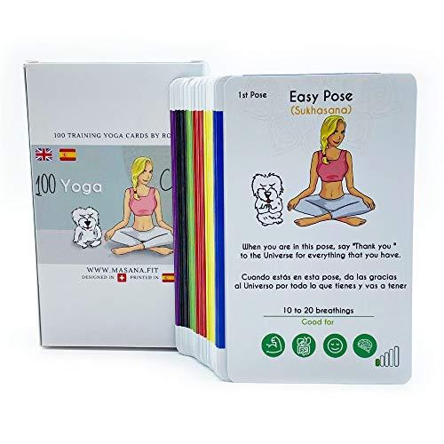 Cartas de Yoga/Pack de 100 Yoga Cards para Todos los Niveles