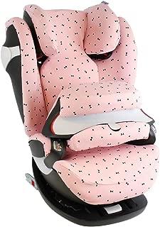 Maxi-Cosi Pearl Bezug Kindersitz Auch f/ür 2Way Pearl und Pearl Pro Schwarz Wei/ß Schleifchen Schwei/ßabsorbierend und weich f/ür Ihr Kind /Öko-Tex 100 Baumwolle