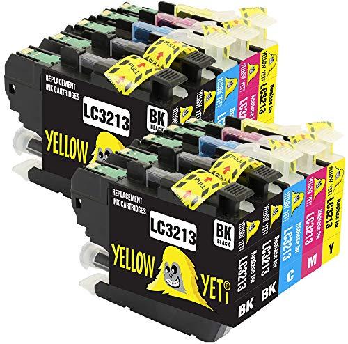Yellow Yeti Reemplazo para Brother LC3213 Cartuchos de Tinta compatibles con Brother DCP-J572DW DCP-J774DW MFC-J895DW MFC-J497DW MFC-J890DW J491DW DCP-J772DW (4 Negro, 2 Cian, 2 Magenta, 2 Amarillo)