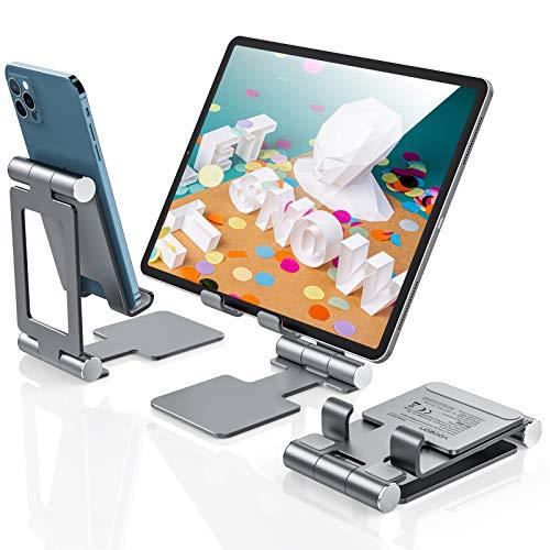 yoozon Supporto per Tablet, Supporto per telefono in alluminio regolabile in altezza,supporto stabile compatibile con iPad Air/Mini/Pro 10.5/Pro 9.7/Kindle/iphone12/12pro/11/xiaomi/Samsung/Huawei