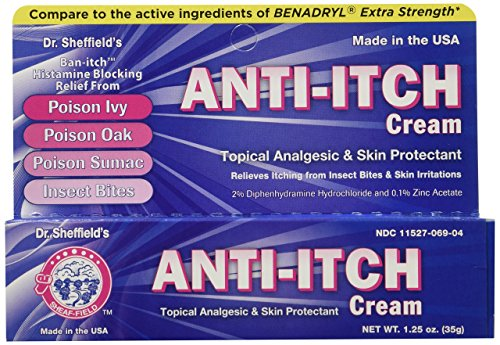 Dr Sheffield AntiItch Cream with Histamine Blocker 125 oz