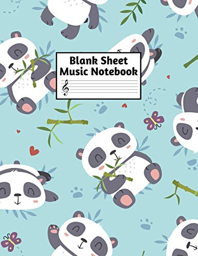 Blank Sheet Music Notebook: Easy Blank Staff Manuscript Book Large 8.5 X 11 Inches Musician Paper Wide 12 Staves Per Page for Piano, Flute, Violin, ... other Musical Instruments - Code : A4 1305