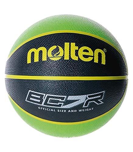 MOLTEN Balon Baloncesto BC7R2 Verde Negro Talla 7