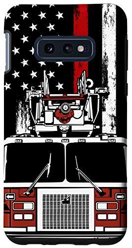 Galaxy S10e US Flag Firefighter Phone Case Firetruck Gift Fireman Phone Case