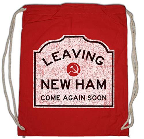 Urban Backwoods Leaving New Ham Sign Sporttas Gym Zak Sportzak Rugzak