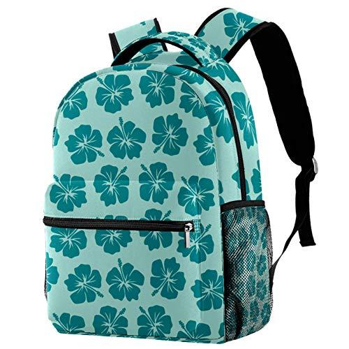 Mochila colorida con flores exóticas para la escuela, mochila para senderismo, mochila de viaje para mujeres y hombres