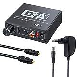 Neoteck Convertisseur audio numérique D/A 192KHz Prend en charge le coaxial vers Toslink/Toslink vers Coaxial Commutation bidirectionnelle audio numérique pour DVD PS3/4 Sky Blu-ray