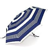 soges Umbrellas Business Umbrella Auto Open and Close Travel Umbrella Windproof, Blue