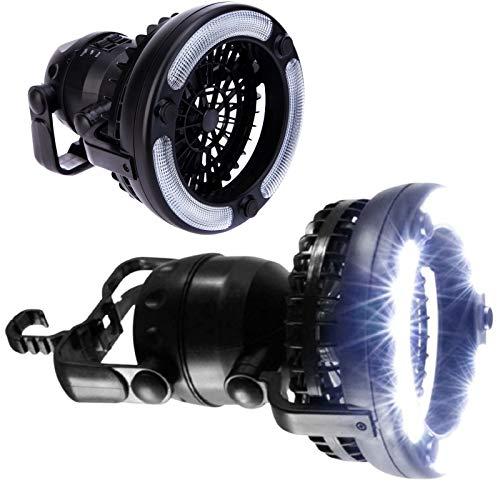 Portable 2 en 1 LED Lanterne avec ventilateur de plafond, idéal pour le camping et les urgences, poignée intégrée et crochet, suspendre ou support – par une meilleure Ligne