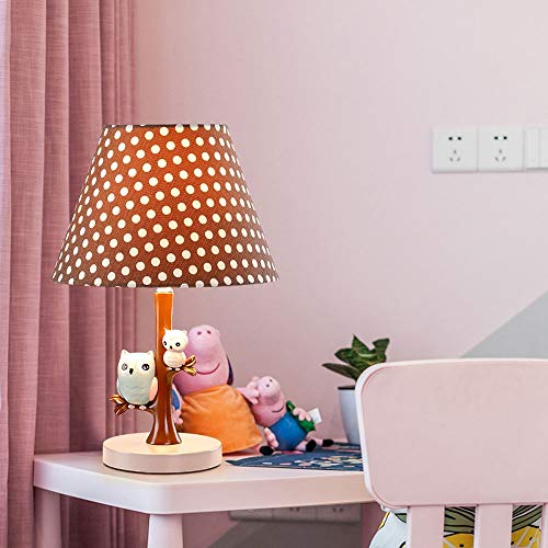 Yingying Cartoon Animal tafellamp uil wekker oogbescherming Desk Lamp bedlampje dimming creatieve kinderen lampenkap E27 Art Deco