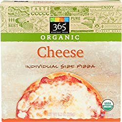 365 Everyday Value, Organic Cheese Pizza, Individual Size, 6.2 oz, (Frozen)