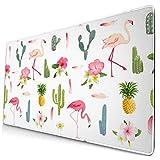 Mousepad Mouse Pad Große Spielmatte Niedlicher Smaragd Flamingo Nahtloser Kaktus XXL Erstellen Sie Anime Computer Teppich Extra Ergonomische Tischsets Riesige Metalldruckerei Home Game Zubehör