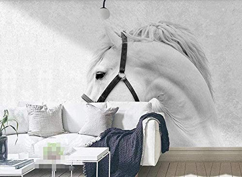 White Horse Tapete Vlies Tapete 3D-Effekt Wandbild Wanddekoration Wandbild Tapete Wanddekoration fototapete 3d Tapete effekt Vlies wandbild Schlafzimmer-300cm×210cm