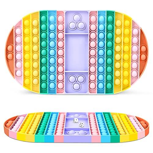 23GUANYI Pop It Gigante Fidget Sensory Toys, Bubble Popper Giochi da Tavolo Antistress Game Ovale Giocattoli sensoriali, Giocattolo Silicone Popolari