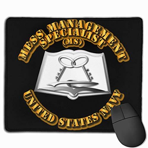 Spiel Maus Pad,Mausunterlage,Mausmatte,Gaming Mauspad,Us Navy Rate Mess Management Spezialist Mat Mäuse Mauspad Für Office Home Laptop Computer Pc