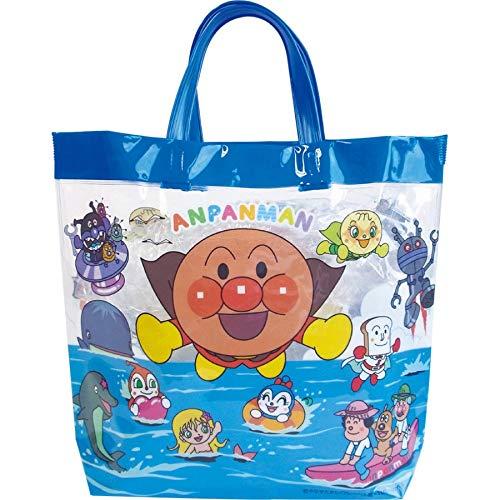 アンパンマン プールバッグ ビーチバッグ ビニール バッグ スイミング 水泳教室 プール 水着 キャラクター 子供用 (ブルー)