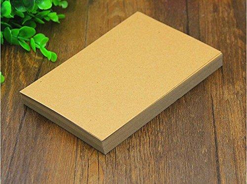 Candora 100 pzasA6en papel Kraft en blanco/ Tarjetas de visita/ Tarjeta con palabras/ Tarjeta postal DIY/ Tarjeta de mensaje DIY, tarjeta de regalo.