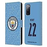 Head Case Designs Licenciado Oficialmente Manchester City Man City FC Benjamin Mendy 2020/21 Jugadores Inicio Kit Grupo 2 Carcasa de Cuero Tipo Libro Compatible con Samsung Galaxy S20 FE / 5G