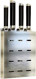 SCRFF Porte-Couteau en Acier Inoxydable, Rangement Cuisine Tiroir Organisateur, avec Anti-dérapant Pad sans Couteaux Eau L...