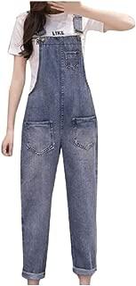 XINHEO Womens Highwaist Loose Skinny Pocket Denim Vintage Jumpsuit Overalls