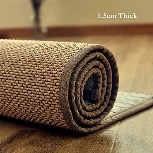 Tappeti Runner ZAY bambù 150cm/180cm/220cm/300cm di Lunghezza, Tappetino da Camera da Letto per Soggiorno con Supporto Antiscivolo, Spesso 1,5cm (Size