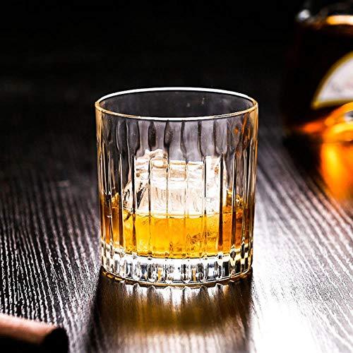 Verticaal patroon 300Ml Klassieke Koffie Beker Amerikaanse Latte Koffie Beker Whiskey Glas Wijn Glas IJs Gestreepte Wijn Glas Beker single Verticale Graan Klop
