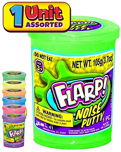 JA-RU Flarp Noise Fart Putty (Pack of 1) Plus 1 Bouncy Ball Fart Noise Maker Slime | Item #10041-1A
