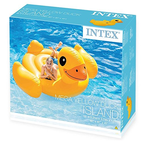 Learn More About Intex Inflatable Mega Yellow Duck Island Float