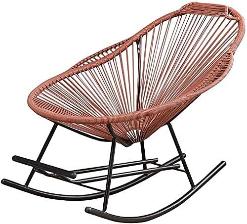 Sillón reclinable de ratán con reposapiés y reposabrazos para niños, adultos, tumbona, reclinable, para patio, piscina