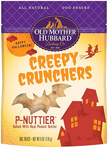 Old Mother Hubbard Natural Creepy Cruncher P-Nuttier Treats, 6-Ounce Bag