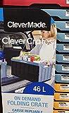 CLEVERMADE 折り畳みコンテナ 46L 耐荷重34㎏ 各色 (レッド)
