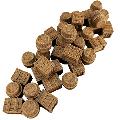 Storeroom Crates and Barrels Set - 28mm Fantasy Gaming Terrain