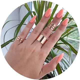 ItsStarred 3-10pcs Knuckle Midi Ring Set for Women Girls Stackable Finger Rings Gold/Rose Gold ECG Chevron Band