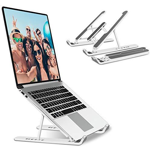 JPARR Soporte Portátil Plegable, Soporte para Computadora Netbooks de Ventilado, Soporte para Laptop Adjustable de Múltiples Ángulos,para Laptops/Teléfonos Móviles/Tabletas/Kindles/Nintendo