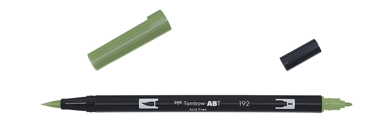 Tombow Dual brush-192?–?Double Brush Tip Marker, Green