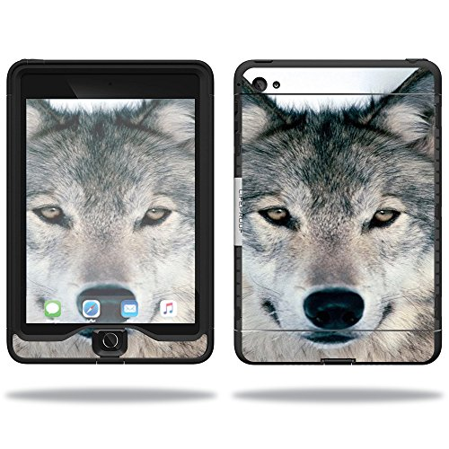 MightySkins Skin Compatible with Lifeproof Apple iPad Mini 4 Case nuud Case wrap Cover Sticker Skins Wolf