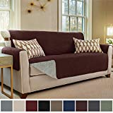 Gorilla Grip Original Slip Resistant X-Large Oversized Sofa Protector, Seat Width to 78 Inch, Patent Pending Suede-Like Furniture Slipcover, 2 Inch Straps, Couch Slip Cover Throw for Dog, Sofa, Coffee